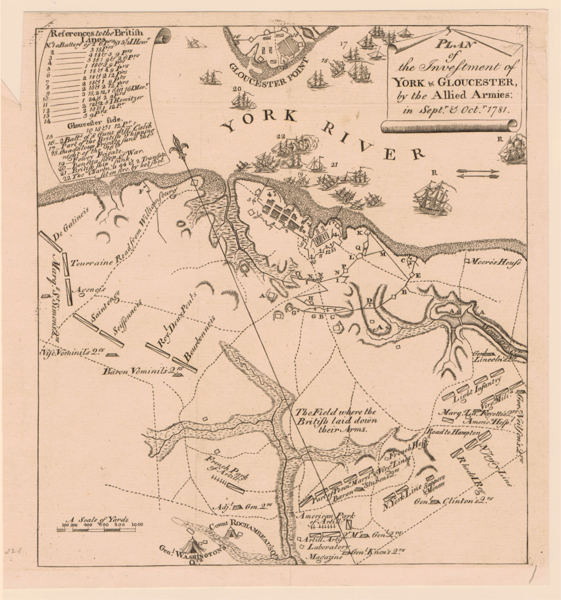 finely executed copperplate map attributed to the important early engraver of charleston south carolina thomas abernethie plan of the investment of